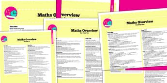 2014 Curriculum KS1 Maths Overview - new curriculum, numeracy