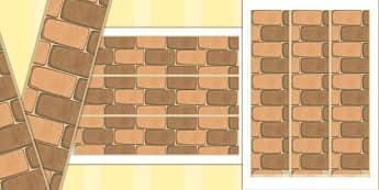 Brick Themed Display Borders - brick, display borders, display, borders