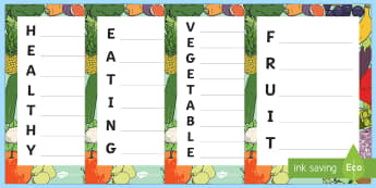 Healthy Acrostic Poems - health, acrostic poems, poems, poetry