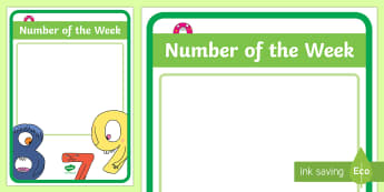 Number of the Week Display Poster - New Zealand Class Management, sounds, letters, sound of the week