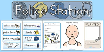 Police Station Role Play Pack - police, emergancy services