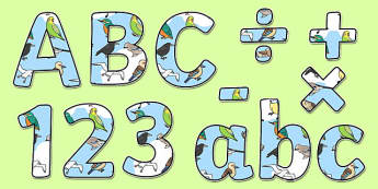 Birds Display Lettering - birds, animals, wildlife, nature, outdoors, ks1, eyfs, classroom, display, title, labels,