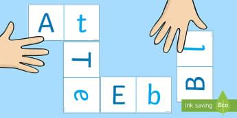 Pune în corespondență litera majusculă cu cea minusculă Joc - litere, jocuri, activități, clasa pregătitoare, alfabet, Romanian