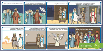 The Christmas Story -  Nativity, Christmas Story, xmas, Visual Aids, Mary, Joseph, Jesus, shepherd, wise men, Herod, angel, donkey, stable, Gabriel, First Christmas,Inn, Star, God