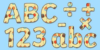 Birthday Themed Display Lettering - birthday, display lettering, birthday display lettering, lettering, lettering for display, display, display letters