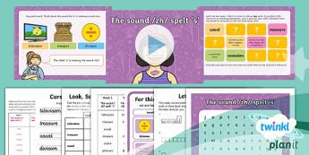 PlanIt Y2 Term 2B W5: /zh/ spelt with 's' Spelling Pack - Spellings Year 2, Term 2B, W5, zh, planning, powerpoint, y2, ks1