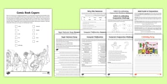 Years 3 and 4 Home Learning: Conjunctions Activity Sheets - co-ordinating, coordinating, subordinating, subordinate, complex sentences, compound sentences, conn