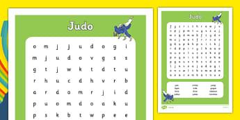 Rio 2016 Olympics Judo Word Search - rio 2016, 2016 olympics, rio olympics, judo, word search