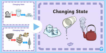 Changing State PowerPoint - changing state, state, science, powerpoint, science powerpoint, information powerpoint, discussion prompt, class discussion