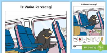 Aeroplane Word and Picture Matching Activity Sheet Te Reo Māori  - Areoplane, Waka Rererangi, Activity Sheet, Word and Pcture Matching, Maori Language Week