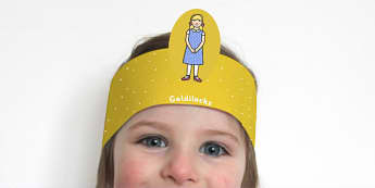 Goldilocks and the Three Bears Role Play Headbands - stories