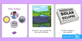 Solar Eclipse Emergent Reader  eBook - sun, moon, earth, space, science, light, dark, event