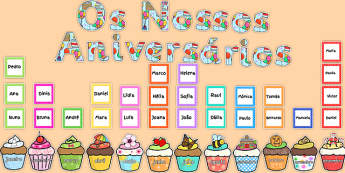 Birthday Graph Display Pack Portuguese - portuguese, birthday, graph, display, pack