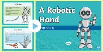 Robotic Hand PowerPoint - STEM Thematic Units Resources, robots, robot, hand, design, robotic hand, technology, NI, northern i
