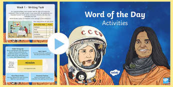 Year 4 Autumn 1 Word Of The Day Activity PowerPoint - year 4 SPaG, Year 4 Writing, Year 4 Spelling, Year 4 vocabulary, Year 4 wow words.