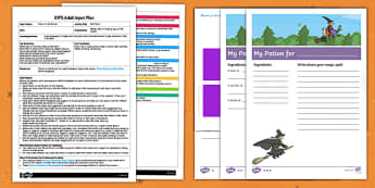 EYFS My Potion Adult Input Plan and Resource Pack to Support Teaching on Room on the Broom