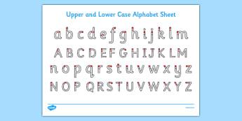 Upper and Lower Case Letters Worksheet / Activity Sheet - ESL Handwriting
