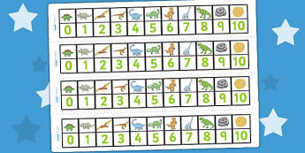 Dinosaurs Number Track (1-10) - Maths, Math, dinosaur, number track, numbertrack, Counting, Numberline, Number line, Counting on, Counting back, history, t-rex, stegosaurus, raptor, iguanodon, tyrannasaurus rex