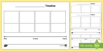 Blank Differentiated Timeline Worksheet / Activity Sheets - Timeline, Template, Sequence information, people's lives, events, developments and phenomena ,Aust