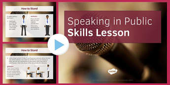 Speaking in Public Skills Lesson PowerPoint - speaking, public