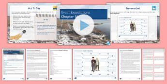 Great Expectations Chapter 54 Lesson Pack - Great Expectations, Charles Dickens, Pip, Magwitch, Compeyson, Provis, Startop, Herbert, Chapter 54,