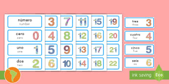 Math Number System Word Cards Spanish (Latin)/US English - Maths Number System Word Cards - maths number system, word cards, number system word cards, maths wo