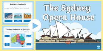 Sydney Opera House PowerPoint - Australian landmark, australian building, Australia, Australian History, Australian Geography,Austra