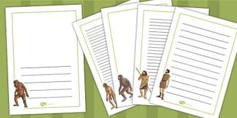 Human Evolution Page Borders - human, evolution, page, borders