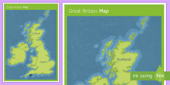 Great Britain Map - handout, display, map, GB, country names