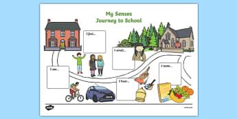 My Senses Journey to School Map