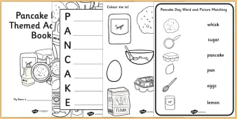 Pancake Day Themed Activity Book - pancakes, activity, games