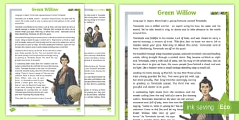 KS2 Take It Outside Summer: Green Willow Story - Folk Tale, Japan, Outdoor Learning, Forest School, Nature Detectives, speaking and listening, oral s, outdoor, woodland learning, twinkl outdoor and woodland learning owl get it