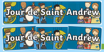 St Andrew's Day Display Banner (French) Display Banner-Scottish