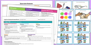 Investigation Area Editable Continuous Provision Plan and Challenge Cards Pack Reception FS2