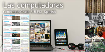 Imagine: Computers KS2 Resource Pack Spanish (Latin) - computer, laptop, iPad, tablet, difference engine, babbage, lovelace, turing, colossus, circuit boar