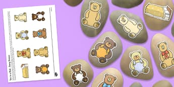 10 in a Bed Story Stones Image Cut-Outs - Story stones, stone art, painted rocks, Nursery Rhymes, number rhymes, traditional