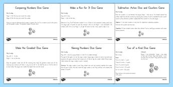 Math Computation Dice Games - usa, america, Dice, Games, Math, US Resources