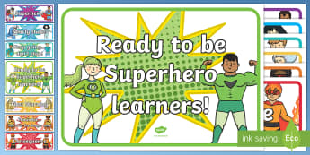 Superhero Behaviour Chart Display Cut-Outs-Australia