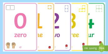 0 to 20 Number  Display Posters -  - 0-20, numbers to 20, maths, maths display, maths posters, counting, number recognition