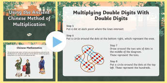 KS2 Using the Ancient Chinese Method of Multiplication PowerPoint - KS2, maths, multiplication, calculation, calculate, ancient Chinese maths, visual learners, rods, st