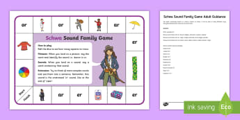 Schwa Sound Family Game - unstressed, vowel, Sound Family Game, schwa, sound family, game, activity,Family's