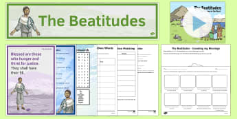 The Beatitudes Resource Pack - CfE Catholic Christianity, prayers, mass responses, beatitudes, blessings