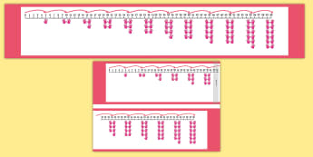Counting in Fives Pictorial Number Line - pictorial, singapore, learning aid, visual, classroom display, maths prompt, multiple, fives, count,