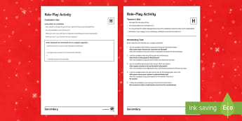 Christmas Higher Tier Role-Play Activity Spanish - speaking, customs, celebrations, GCSE, new, years