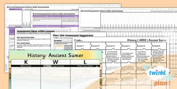 History: Ancient Sumer UKS2 Unit Assessment Pack