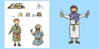 The Loaves And Fishes Story Cut Outs - usa, america, the Loaves and the Fishes, loaves, fishes, Jesus, food, cut outs, cutting, cut, the feeding of the five thousand, crowd, feeding, God, teaching, 5000, people, five loaves