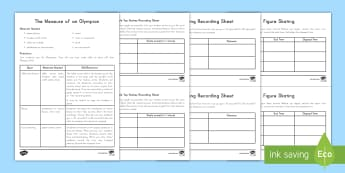 Measure of an Olympic Athlete Math Activity Pack - Measurement, Data, Ruler, Olympics, South Korea, Pyeongchang, Winter Sports