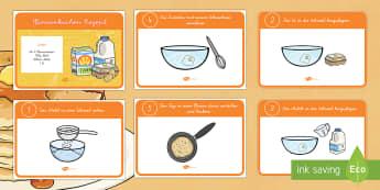 Englisches Pfannenkuchen Rezept - Pfannenkuchen, Rezept, Backen, kochen,German