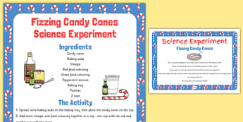 Fizzing Candy Canes Science Experiment - fizzing candy canes, science, experiment