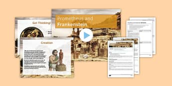 Prometheus and Frankenstein Lesson Pack - prometheus, frankenstein, lesson pack, lesson, ks3, monster